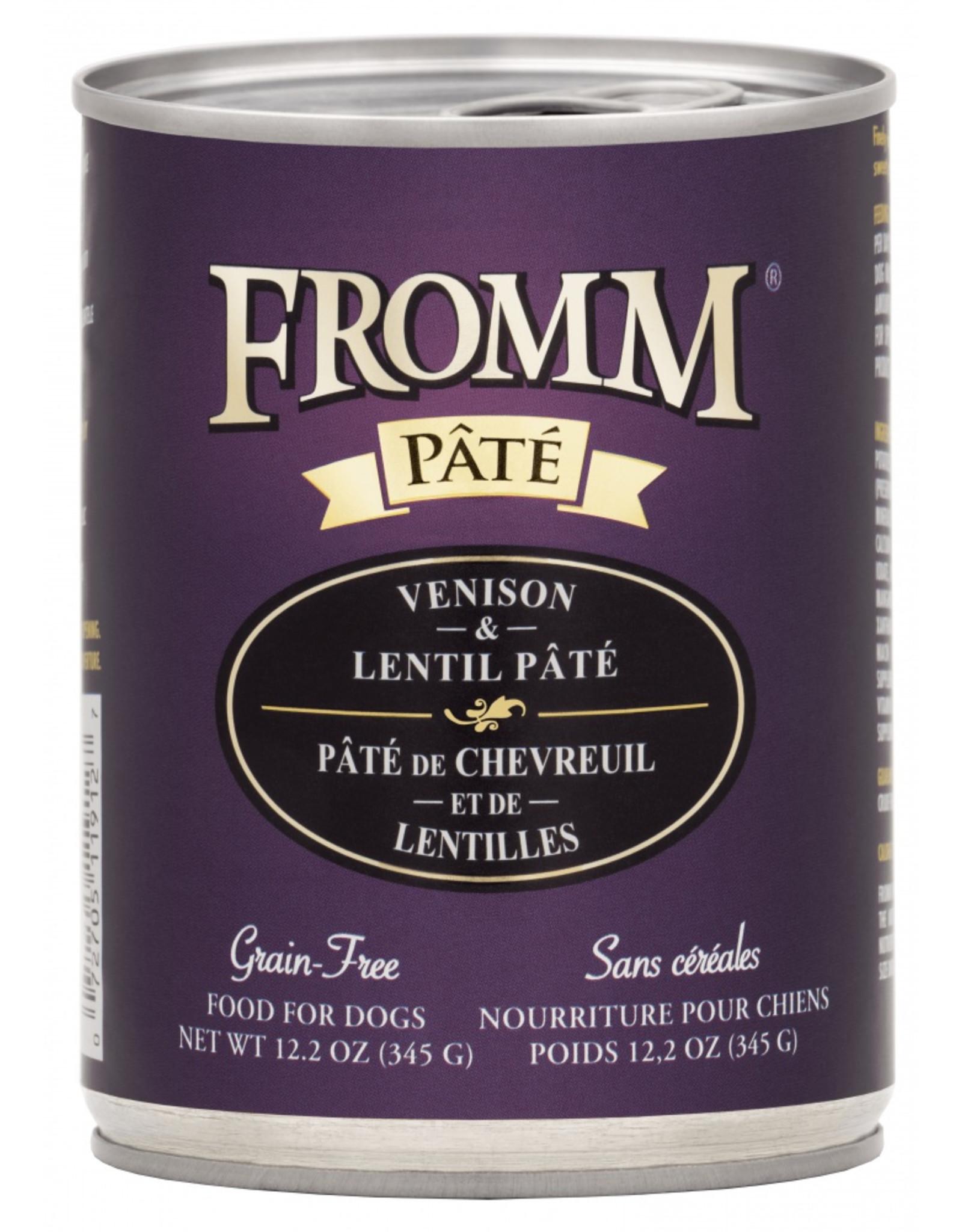 Fromm Family Pet Food FROMM DOG VENISON & LENTIL PÂTÉ 12.2OZ