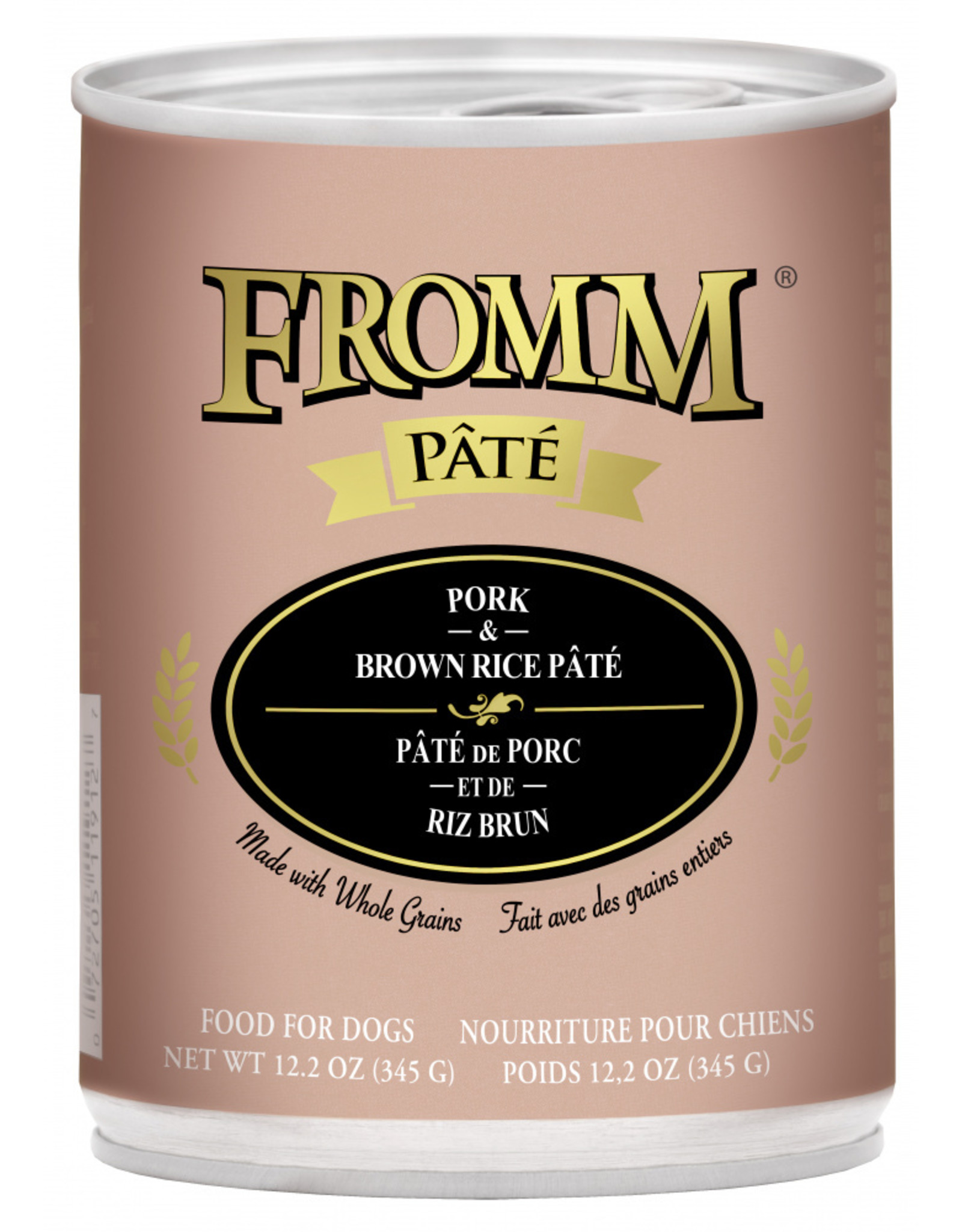 Fromm Family Pet Food FROMM DOG PORK & BROWN RICE PÂTÉ 12.2OZ