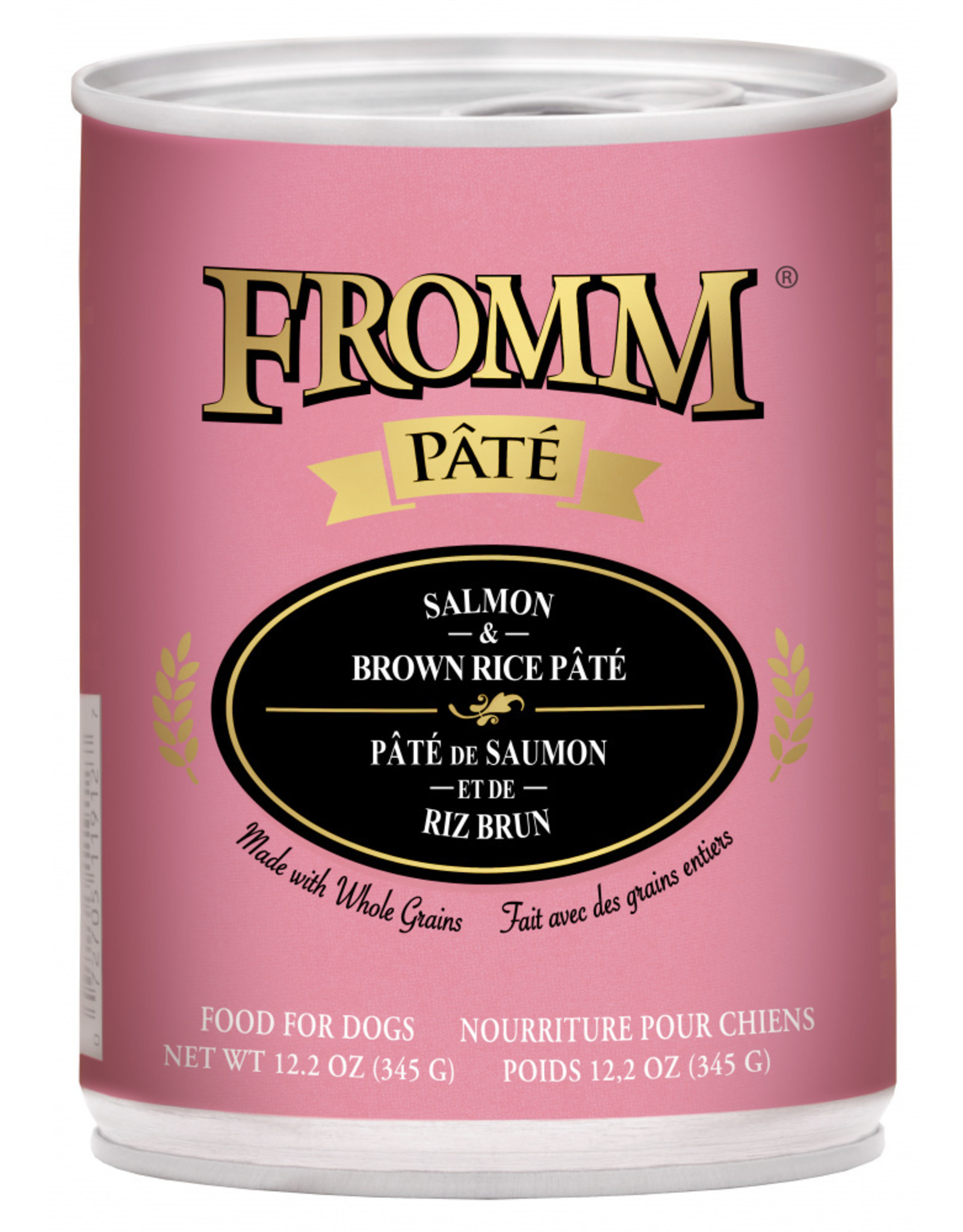 Fromm Family Pet Food FROMM DOG SALMON & BROWN RICE PÂTÉ 12.2OZ