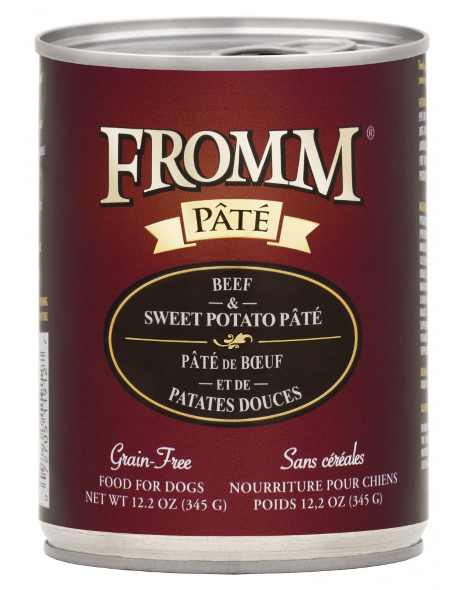 Fromm Family Pet Food FROMM DOG BEEF & SWEET POTATO PÂTÉ 12.2OZ