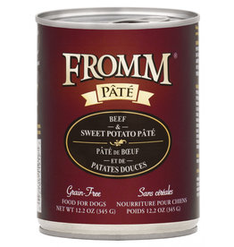 Fromm Family Pet Food FROMM DOG BEEF & SWEET POTATO PÂTÉ 12.2OZ
