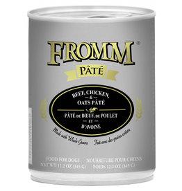 Fromm Family Pet Food FROMM DOG BEEF, CHICKEN & OATS PÂTÉ 12.2OZ