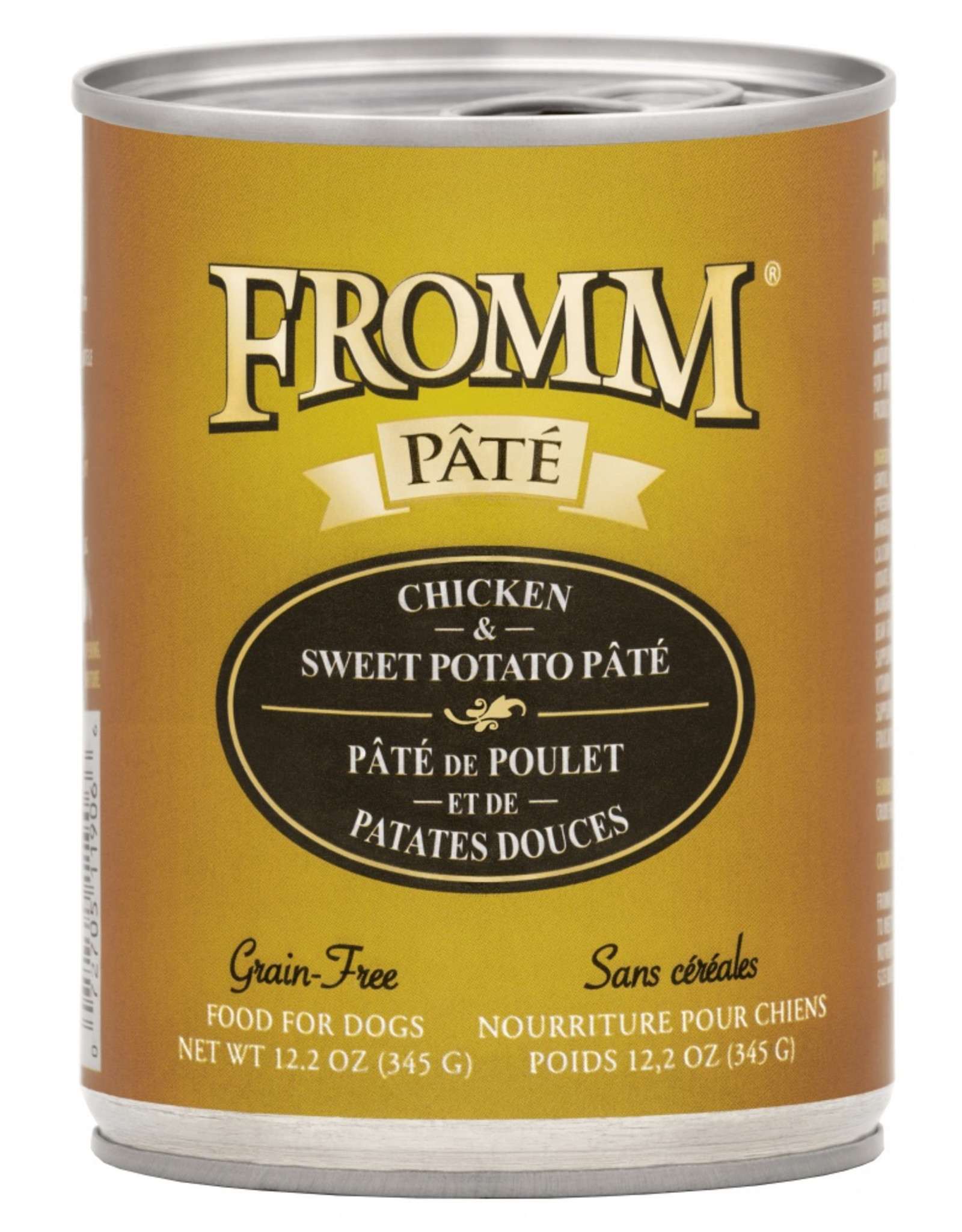 Fromm Family Pet Food FROMM DOG CHICKEN & SWEET POTATO PÂTÉ 12.2OZ