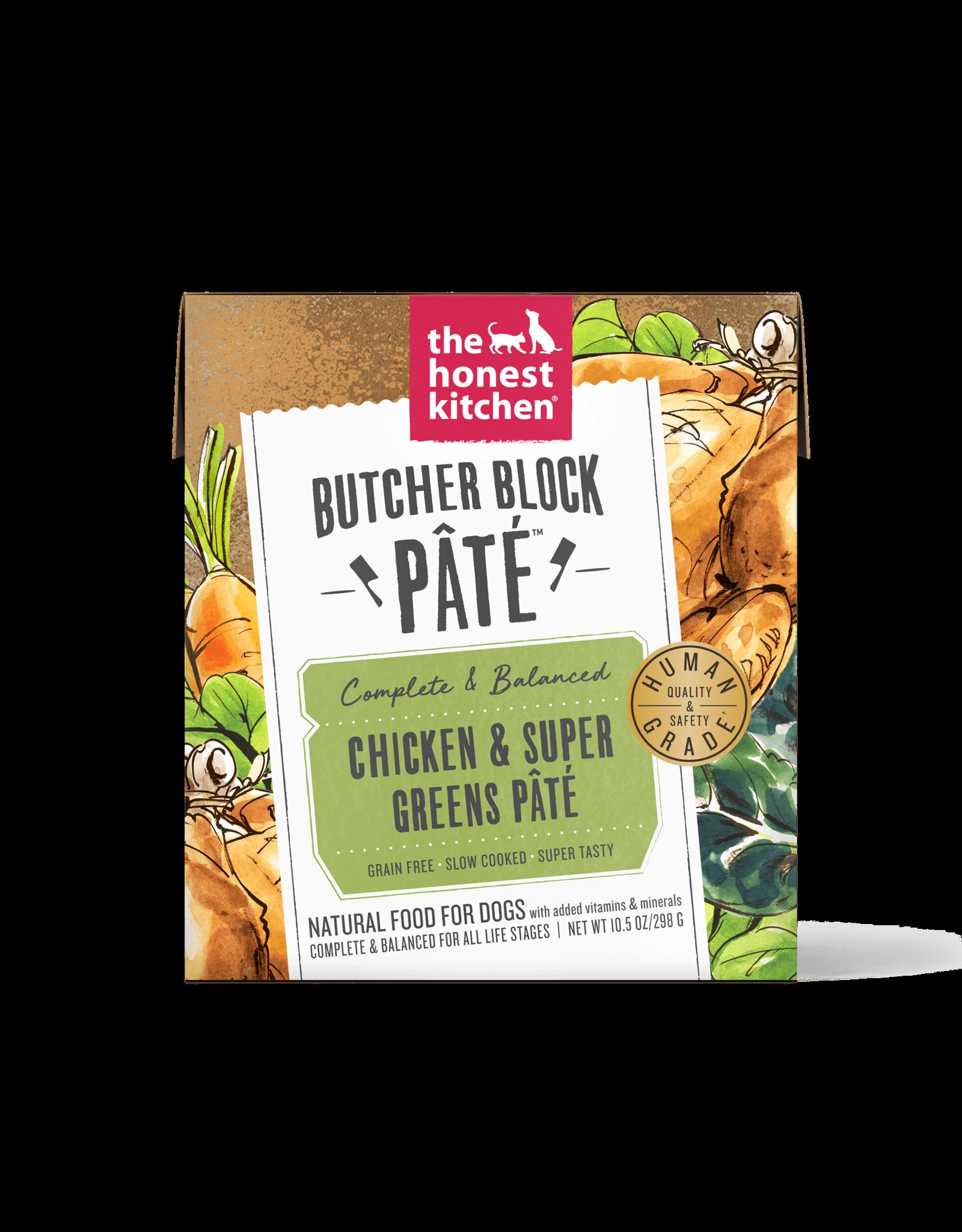 The Honest Kitchen THE HONEST KITCHEN BUTCHER BLOCK PÂTÉ CHICKEN & SUPER GREENS PÂTÉ 10.5OZ