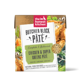 The Honest Kitchen THE HONEST KITCHEN BUTCHER BLOCK PÂTÉ CHICKEN & SUPER GREENS PÂTÉ 10.5OZ