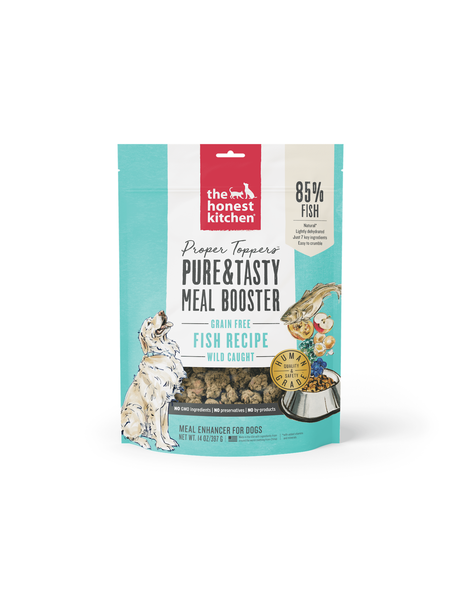 The Honest Kitchen THE HONEST KITCHEN PROPER TOPPERS MEAL ENHANCER FOR DOGS FISH RECIPE 14OZ