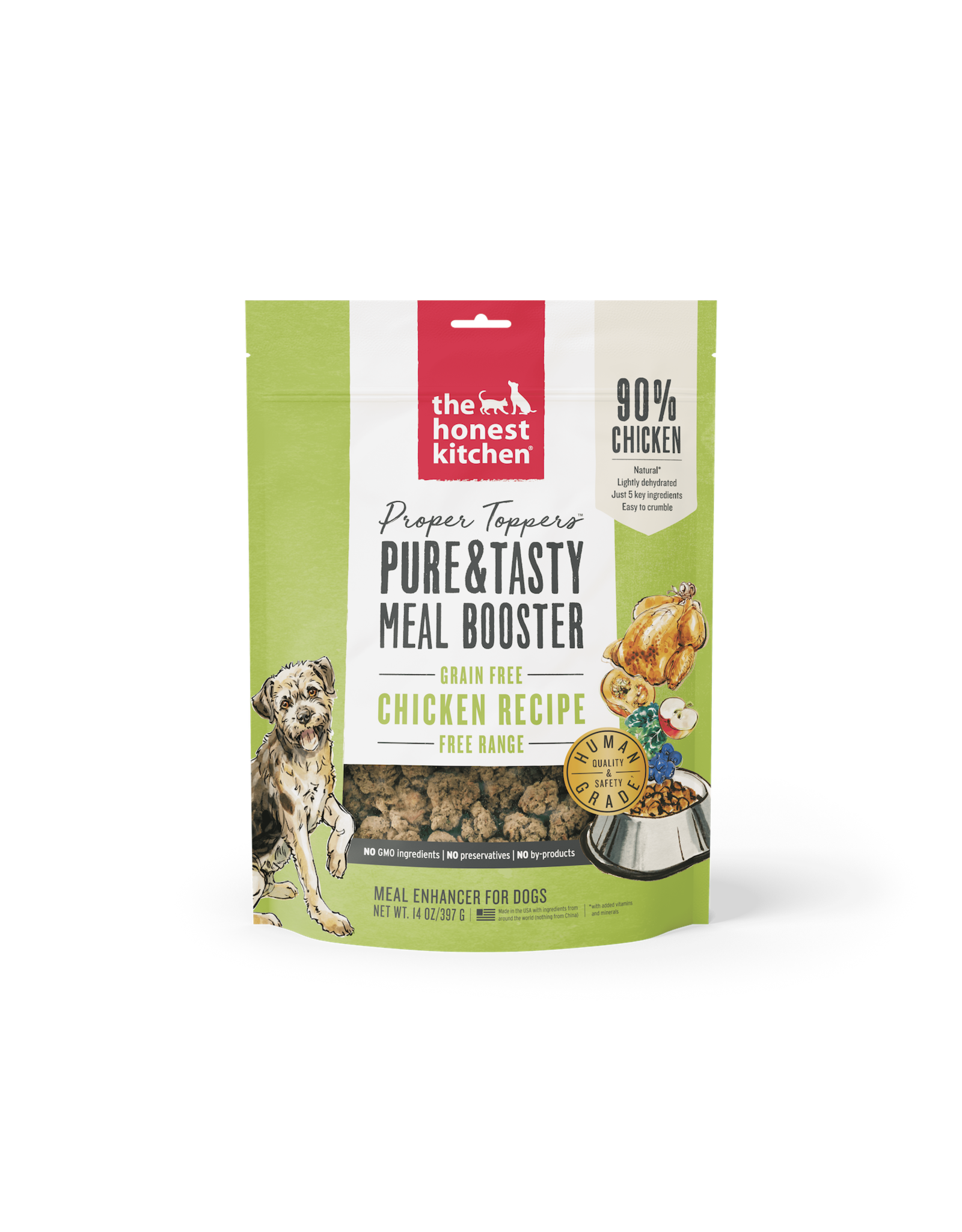 The Honest Kitchen THE HONEST KITCHEN PROPER TOPPERS MEAL ENHANCER FOR DOGS CHICKEN RECIPE 14OZ