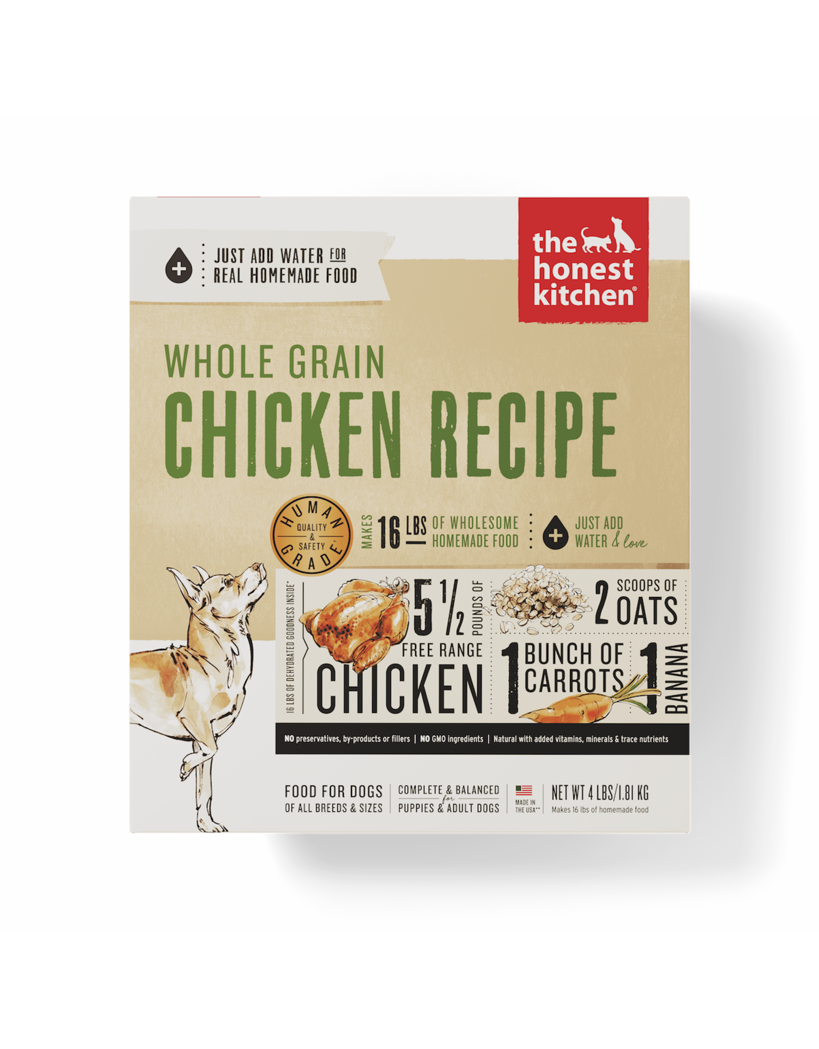 The Honest Kitchen THE HONEST KITCHEN DEHYDRATED WHOLE GRAIN CHICKEN RECIPE DOG FOOD