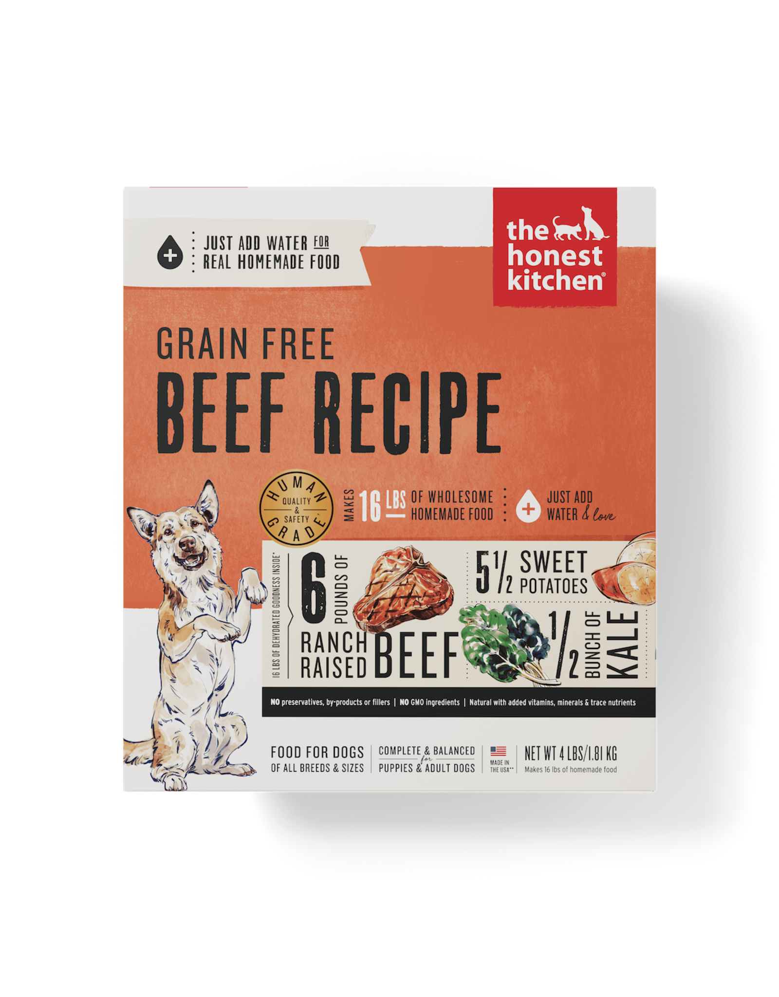 The Honest Kitchen THE HONEST KITCHEN DEHYDRATED GRAIN-FREE BEEF RECIPE DOG FOOD