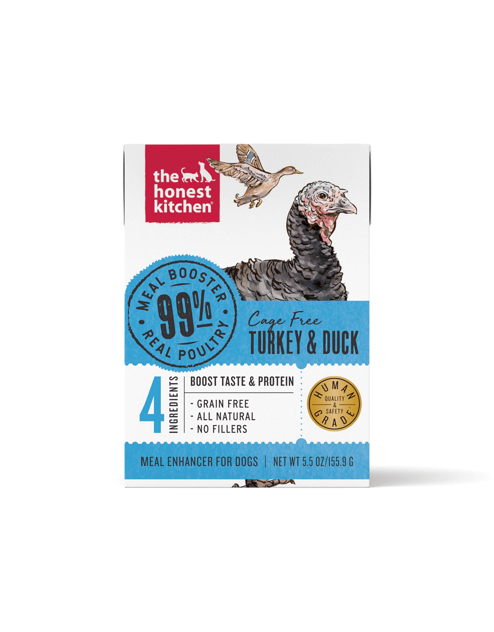 The Honest Kitchen THE HONEST KITCHEN MEAL BOOSTER 99% CAGE FREE TURKEY & DUCK 5.5OZ