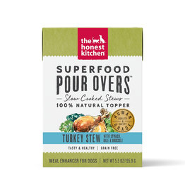 The Honest Kitchen THE HONEST KITCHEN SUPERFOOD POUR OVERS TURKEY STEW WITH SPINACH, KALE & BROCCOLI 5.5OZ