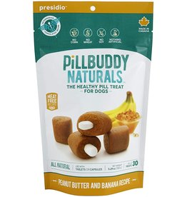 Presidio Natural Pet Co. PRESIDIO PILL BUDDY NATURALS DOG PEANUT BUTTER AND BANANA RECIPE 30-COUNT