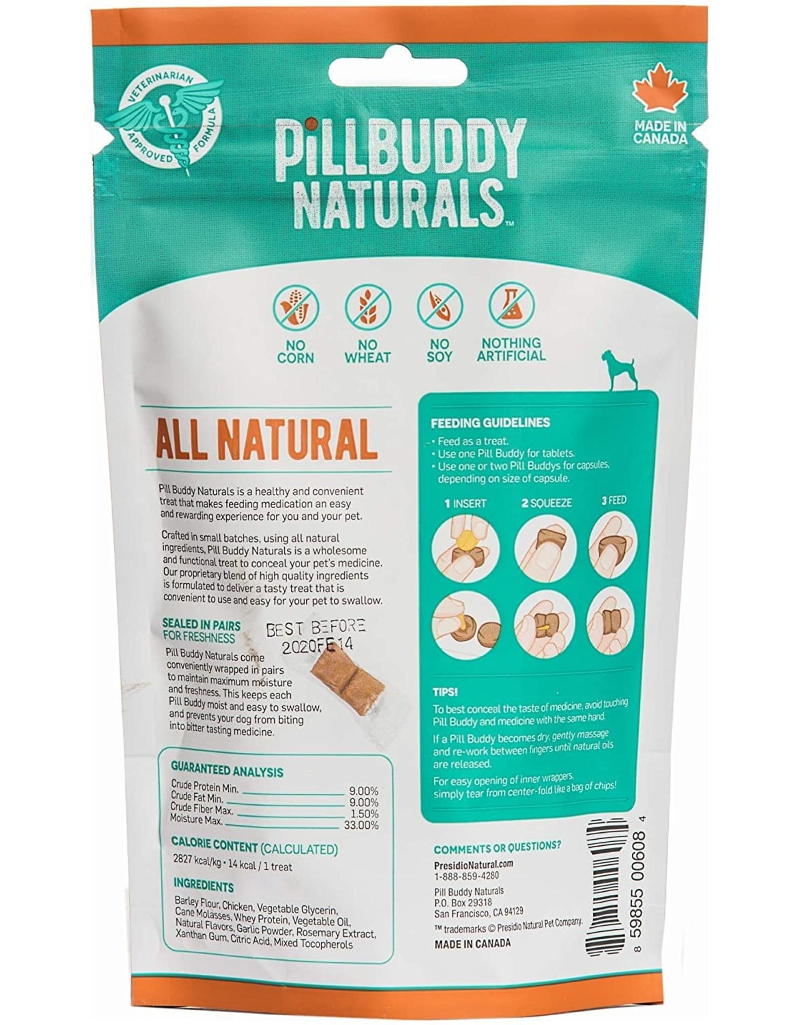 Presidio Natural Pet Co. PRESIDIO PILL BUDDY NATURALS DOG ROASTED CHICKEN RECIPE 30-COUNT
