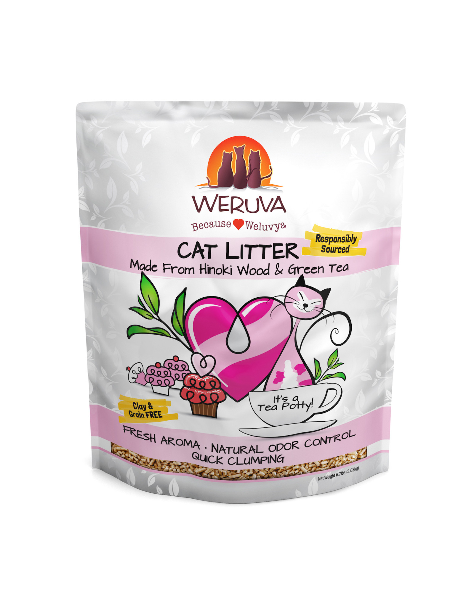 Weruva WERUVA CAT LITTER IT'S A TEA POTTY! WITH HINOKI WOOD & GREEN TEA