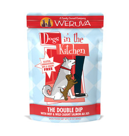 Weruva WERUVA DOG DOGS IN THE KITCHEN THE DOUBLE DIP WITH BEEF & WILD-CAUGHT SALMON AU JUS 2.8OZ