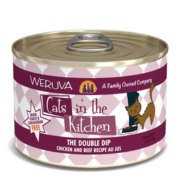 Weruva WERUVA CAT CATS IN THE KITCHEN THE DOUBLE DIP CHICKEN AND BEEF RECIPE AU JUS 6OZ