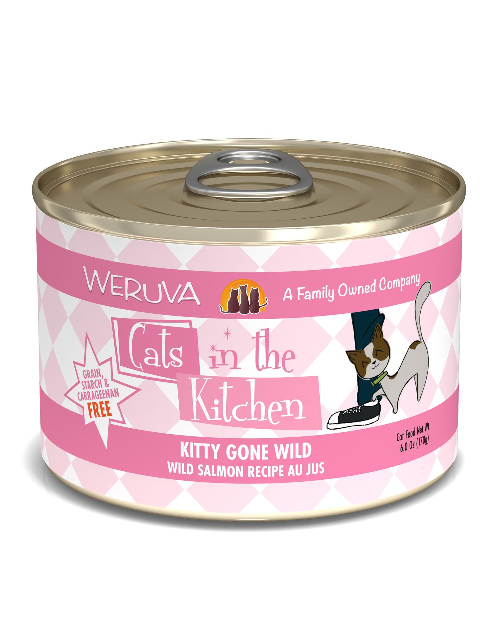 Weruva WERUVA CAT CATS IN THE KITCHEN KITTY GONE WILD WILD SALMON RECIPE AU JUS