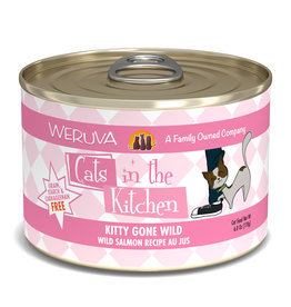 Weruva WERUVA CAT CATS IN THE KITCHEN KITTY GONE WILD WILD SALMON RECIPE AU JUS