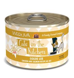 Weruva WERUVA CAT CATS IN THE KITCHEN GOLDIE LOX CHICKEN AND SALMON RECIPE AU JUS 6OZ