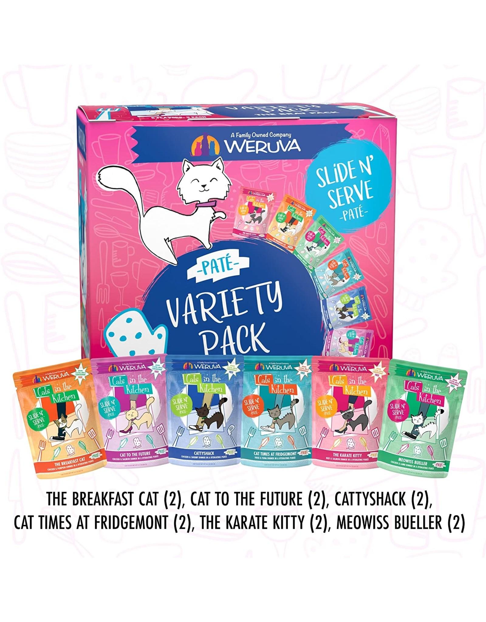 Weruva WERUVA CAT CATS IN THE KITCHEN SLIDE N' SERVE PATÉ THE BRAT PACK 3OZ CASE OF 12