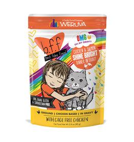 Weruva WERUVA CAT B.F.F. OMG SHINE BRIGHT CHICKEN & SALMON DINNER IN GRAVY 2.8OZ
