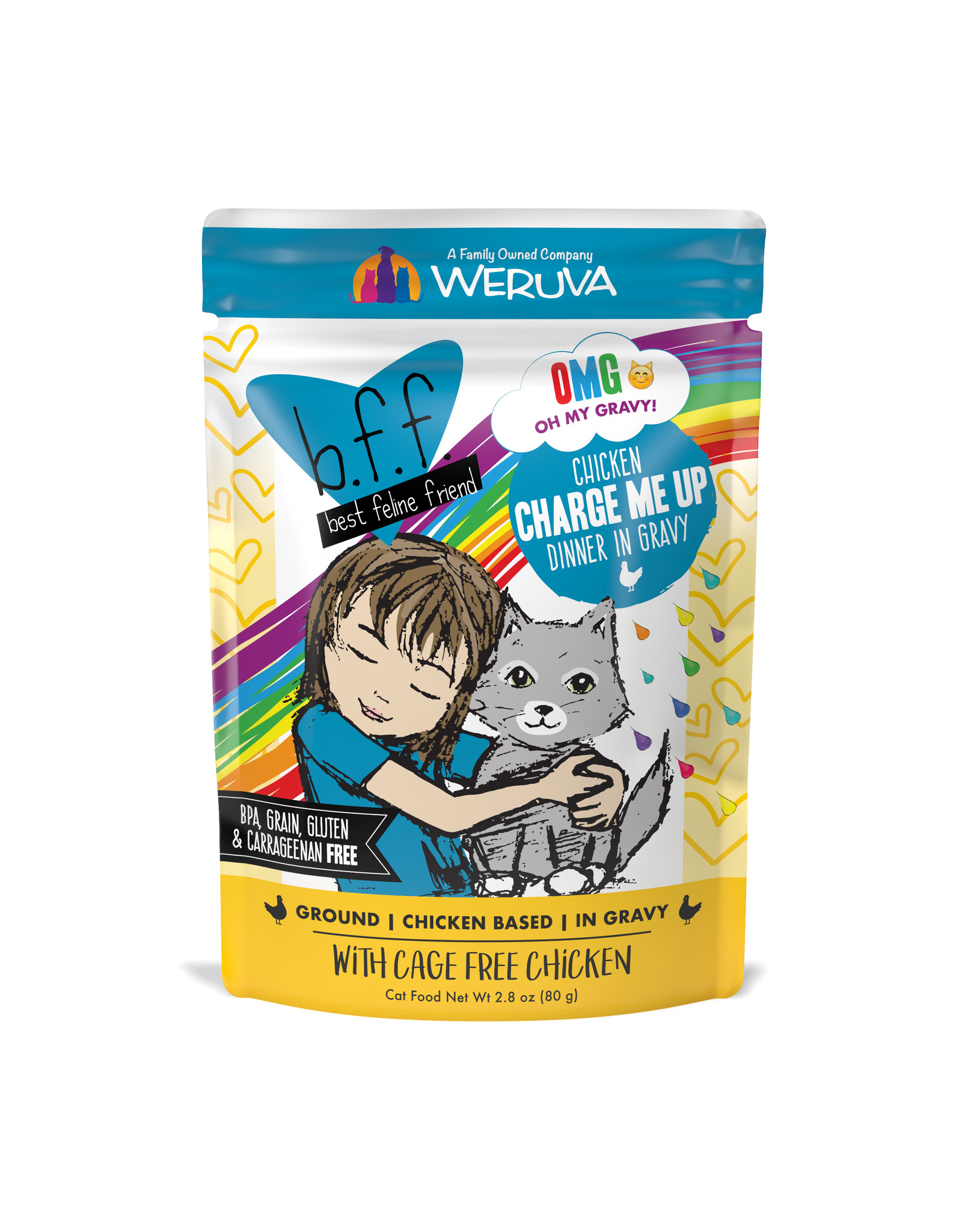 Weruva WERUVA CAT B.F.F. OMG CHARGE ME UP CHICKEN DNNER IN GRAVY 2.8OZ