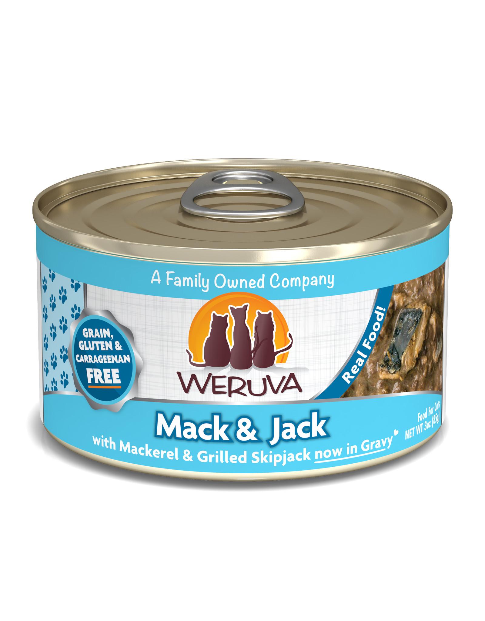 Weruva WERUVA CAT MACK & JACK WITH MACKEREL & GRILLED SKIPJACK IN GRAVY