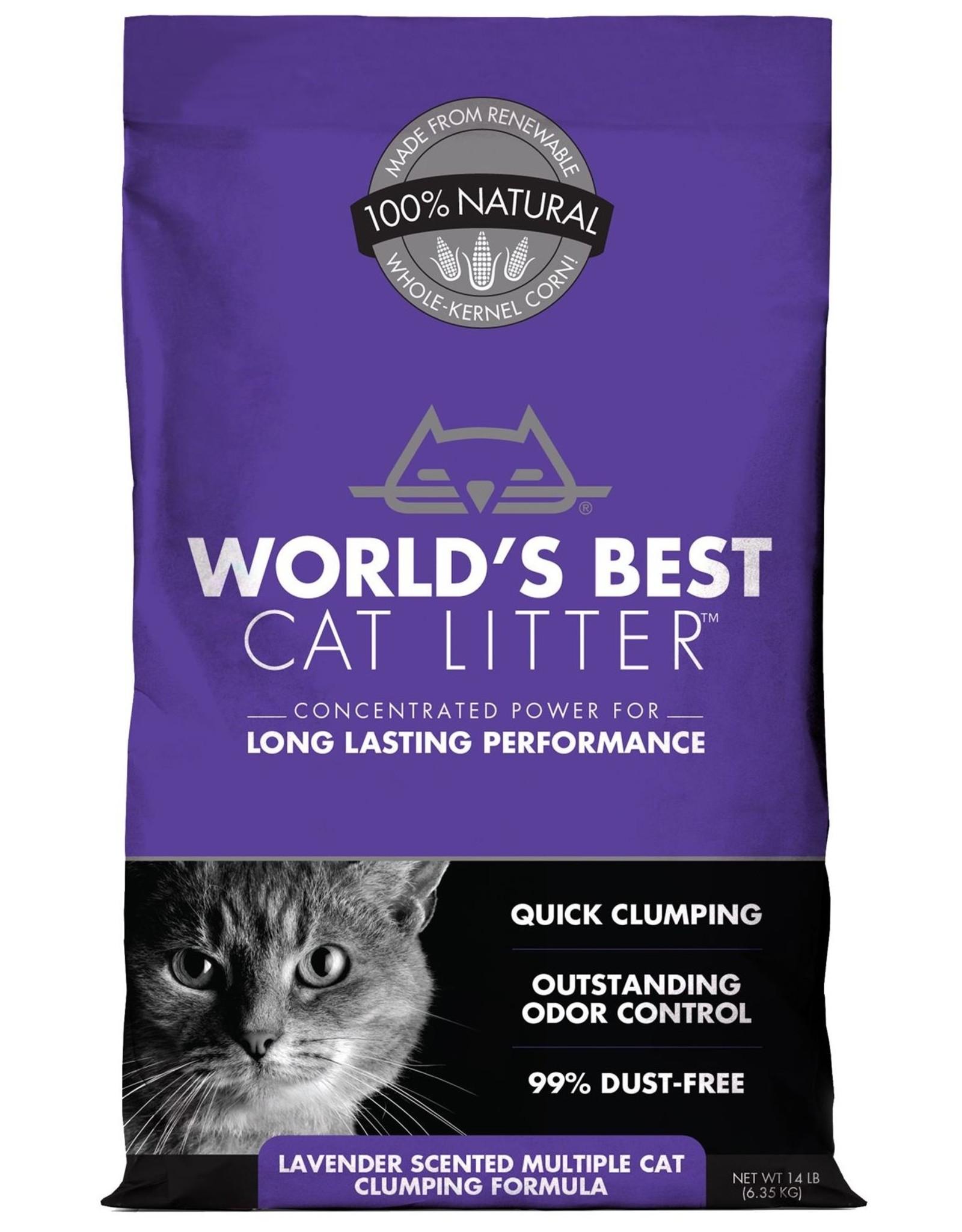 World's Best Cat Litter WORLD'S BEST CAT LITTER MULTIPLE CAT FORMULA LAVENDER SCENTED 14LB