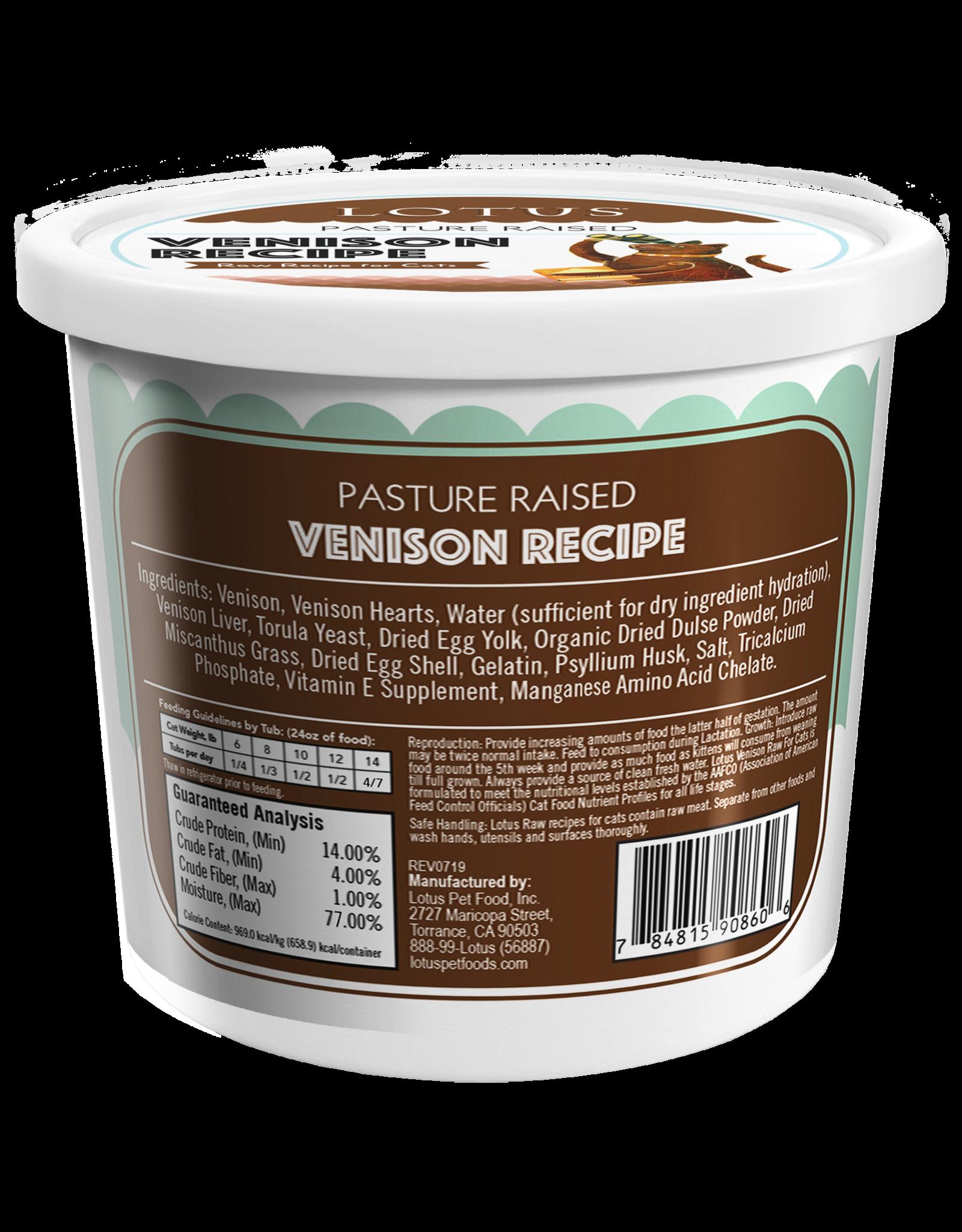 Lotus Pet Foods LOTUS CAT RAW VENISON RECIPE