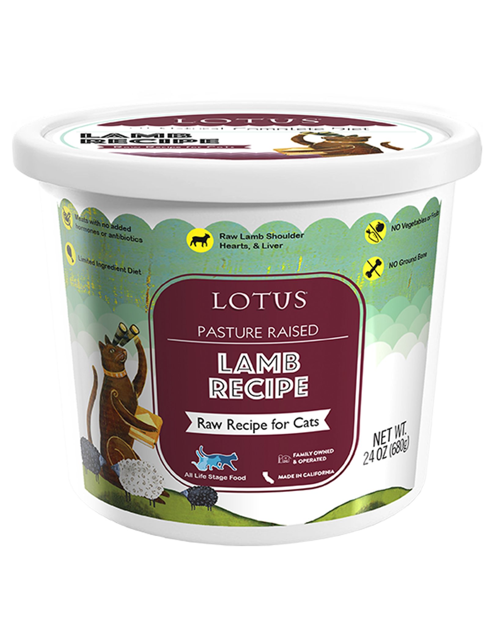 Lotus Pet Foods LOTUS CAT RAW LAMB RECIPE