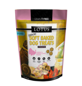Lotus Pet Foods LOTUS SOFT-BAKED TURKEY & TURKEY LIVER RECIPE DOG TREATS 10OZ