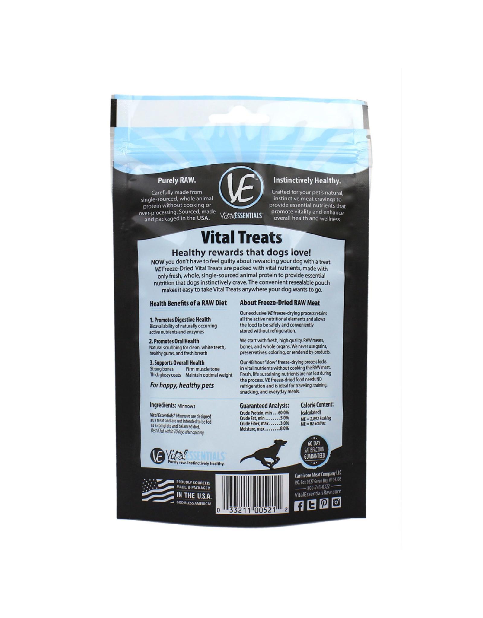 Vital Essentials VITAL ESSENTIALS FREEZE-DRIED MINNOWS TREATS FOR DOGS 1OZ