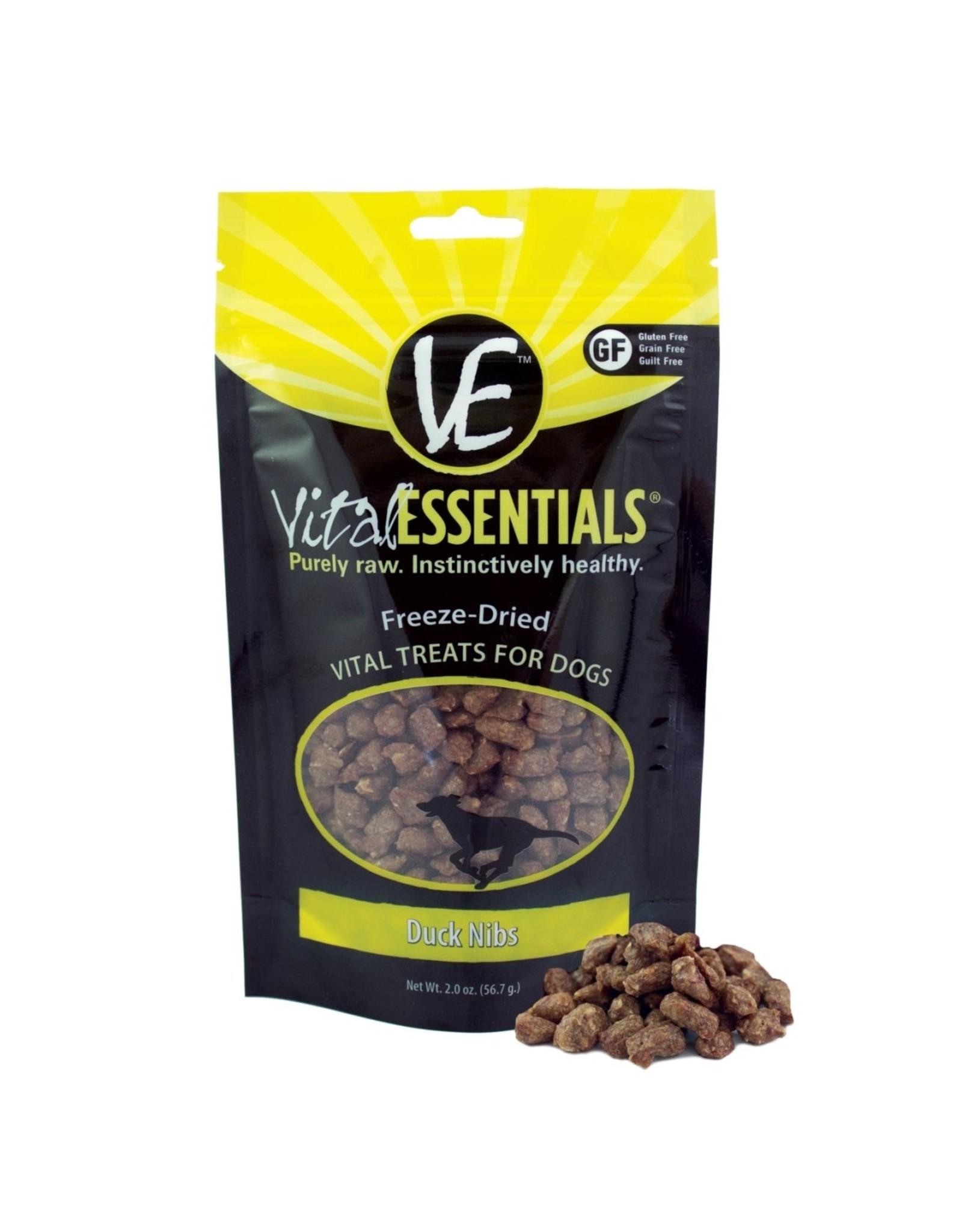 Vital Essentials VITAL ESSENTIALS FREEZE-DRIED DUCK NIBS TREATS FOR DOGS 2OZ