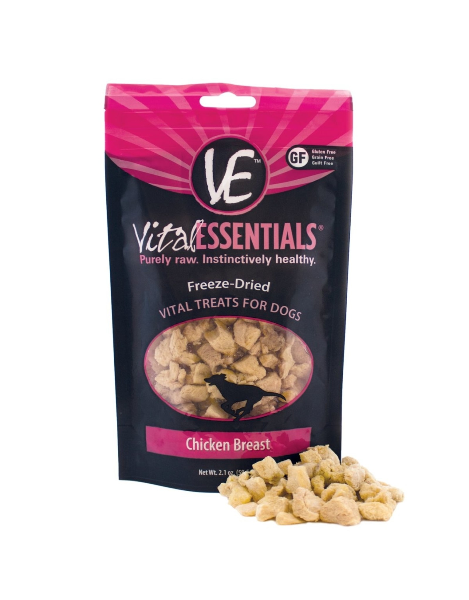 Vital Essentials VITAL ESSENTIALS FREEZE-DRIED CHICKEN BREAST TREATS FOR DOGS 2.1OZ