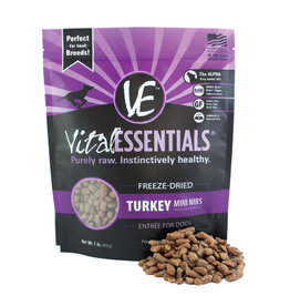 Vital Essentials VITAL ESSENTIALS FREEZE-DRIED TURKEY MINI NIBS ENTRÉE FOR DOGS 1LB