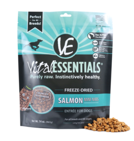 Vital Essentials VITAL ESSENTIALS FREEZE-DRIED SALMON MINI NIBS ENTRÉE FOR DOGS 14OZ