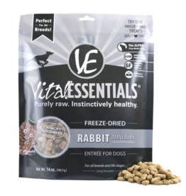Vital Essentials VITAL ESSENTIALS FREEZE-DRIED RABBIT MINI NIBS ENTRÉE FOR DOGS 14OZ