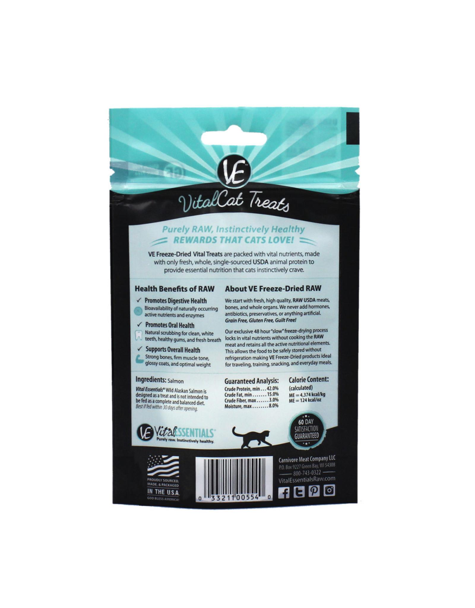 Vital Essentials VITAL CAT FREEZE-DRIED WILD ALASKAN SALMON TREATS 1.1OZ