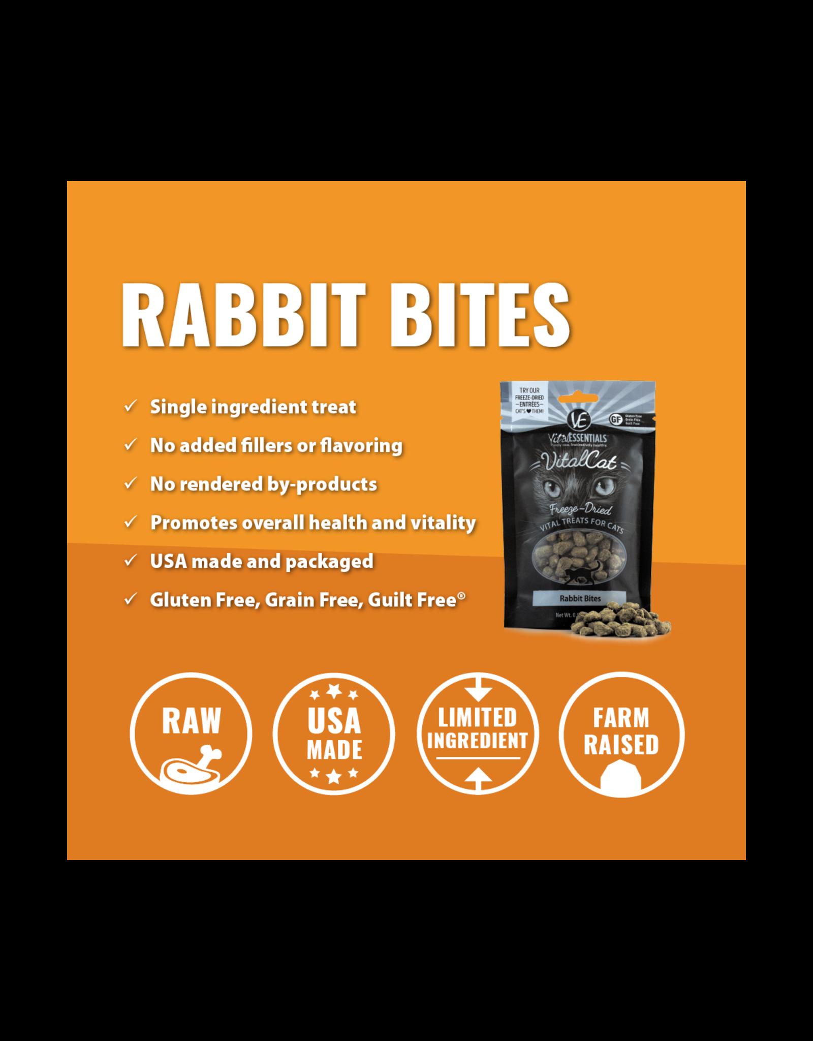 Vital Essentials VITAL CAT FREEZE-DRIED RABBIT BITES TREATS 0.9OZ