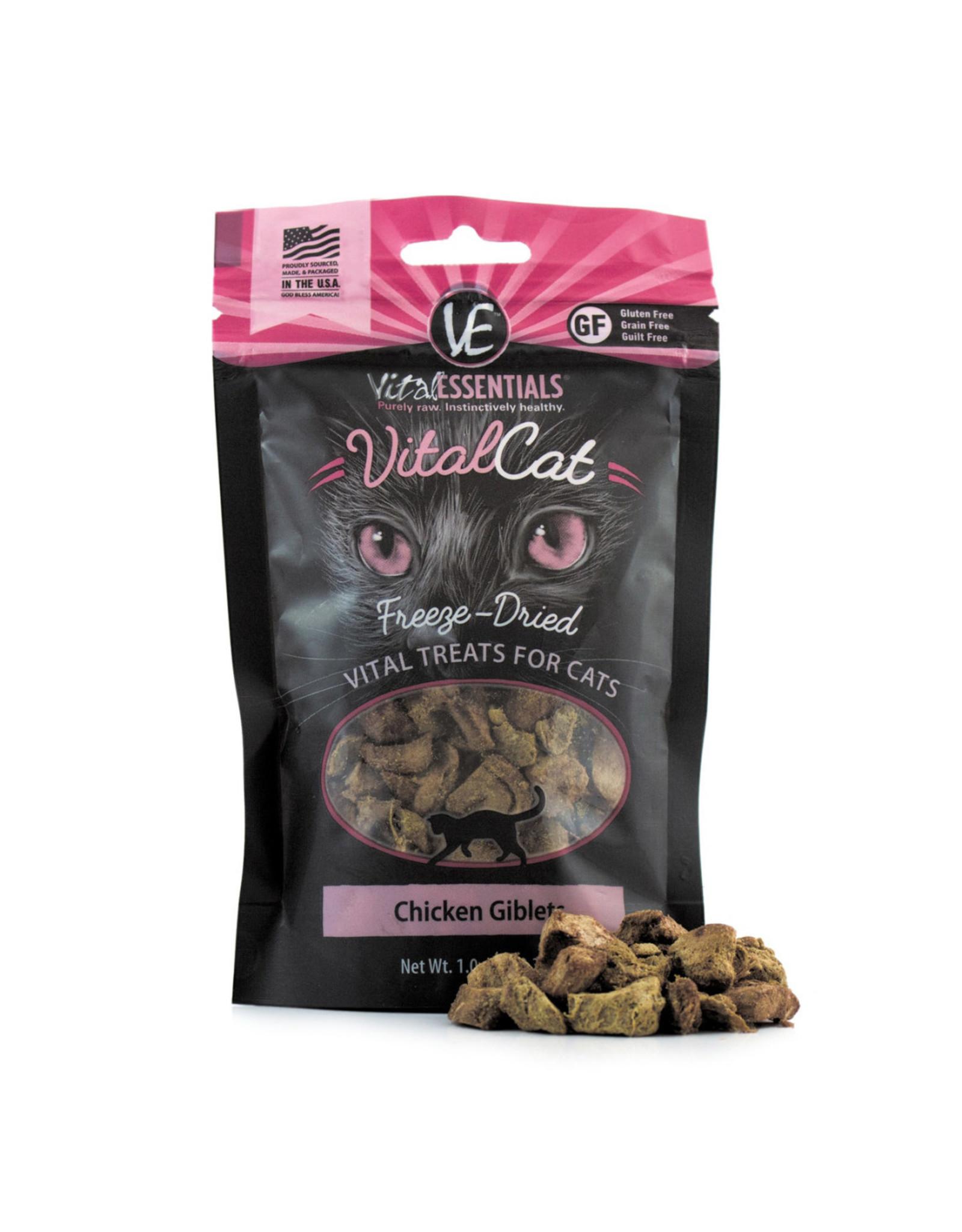 Vital Essentials VITAL CAT FREEZE-DRIED CHICKEN GIBLETS TREATS 0.9OZ