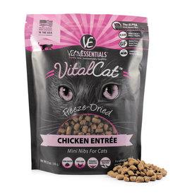 Vital Essentials VITAL CAT FREEZE-DRIED MINI NIBS CHICKEN ENTRÉE 12OZ