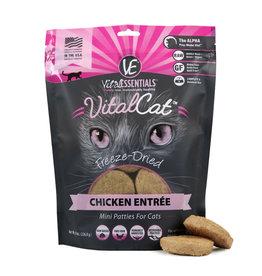Vital Essentials VITAL CAT FREEZE-DRIED MINI PATTIES CHICKEN ENTRÉE 8OZ