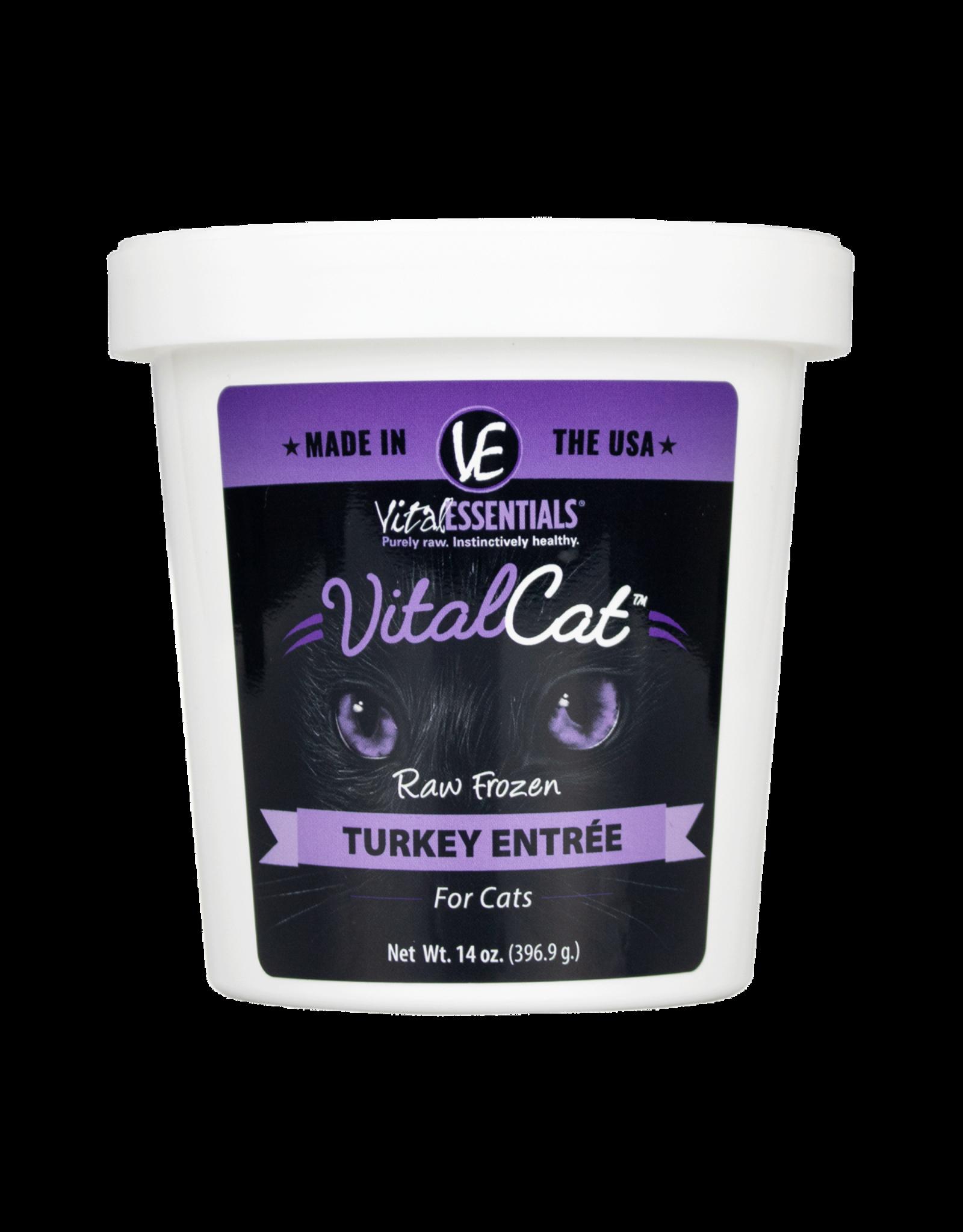Vital Essentials VITAL CAT RAW FROZEN TURKEY ENTRÉE 14OZ TUB
