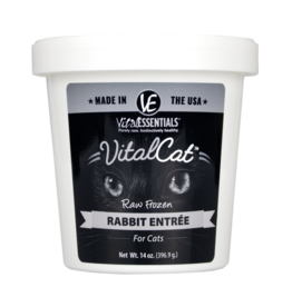 Vital Essentials VITAL CAT RAW FROZEN RABBIT ENTRÉE 14OZ TUB