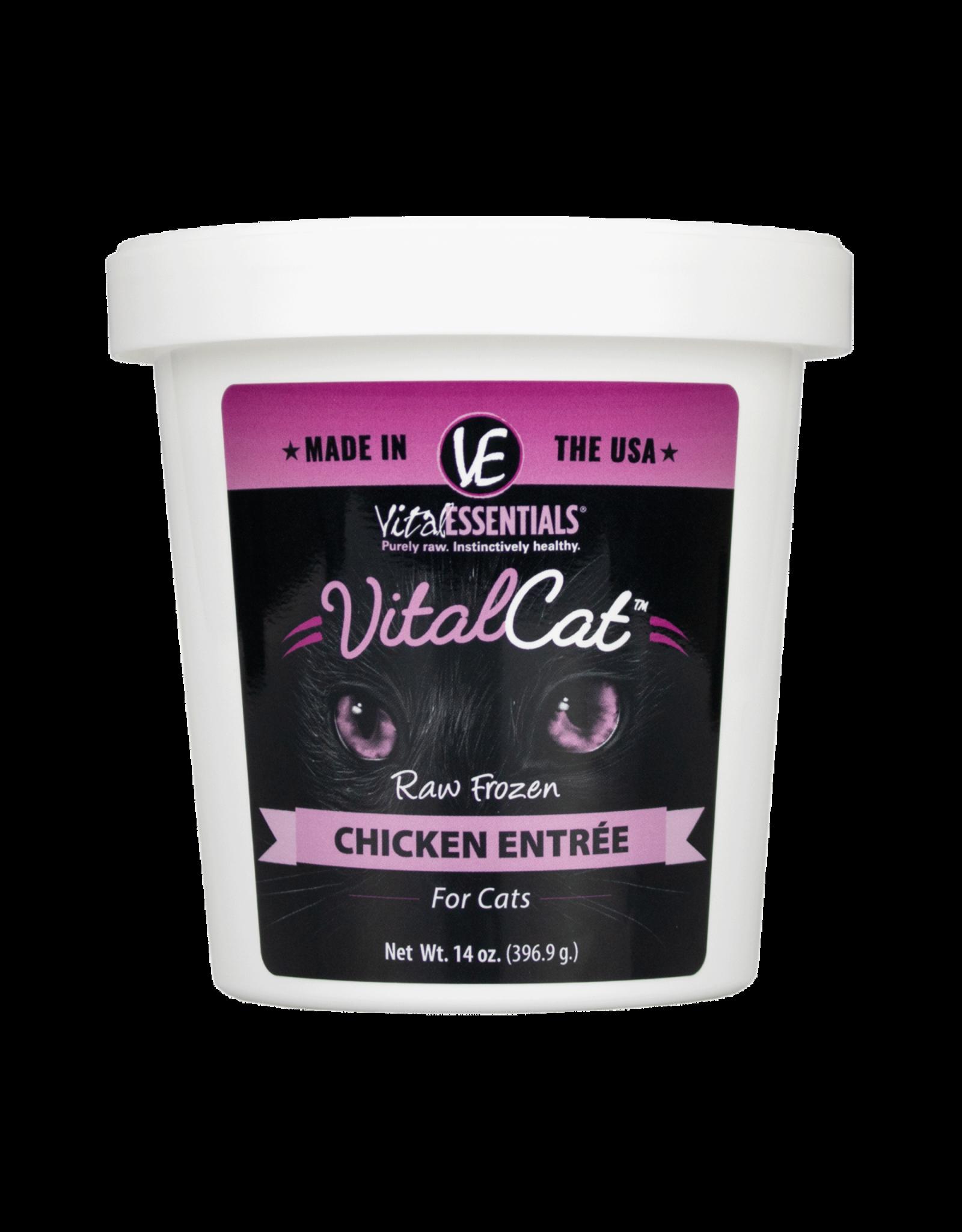Vital Essentials VITAL CAT RAW FROZEN CHICKEN ENTRÉE 14OZ TUB