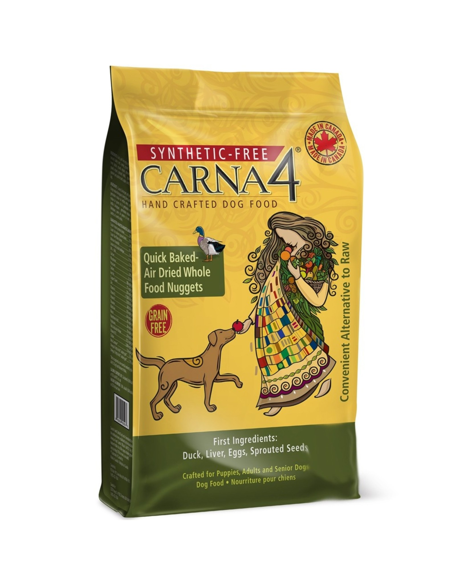 Carna4 Hand Crafted Pet Food CARNA4 DOG QUICK BAKED AIR DRIED WHOLE FOOD NUGGETS DUCK FORMULA