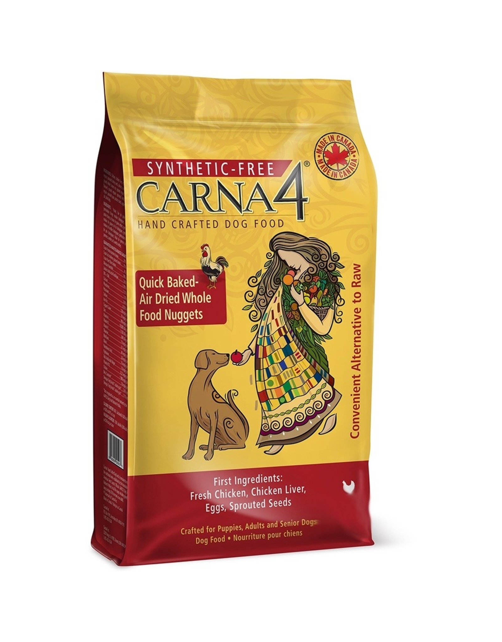 Carna4 Hand Crafted Pet Food CARNA4 DOG QUICK BAKED AIR DRIED WHOLE FOOD NUGGETS CHICKEN FORMULA