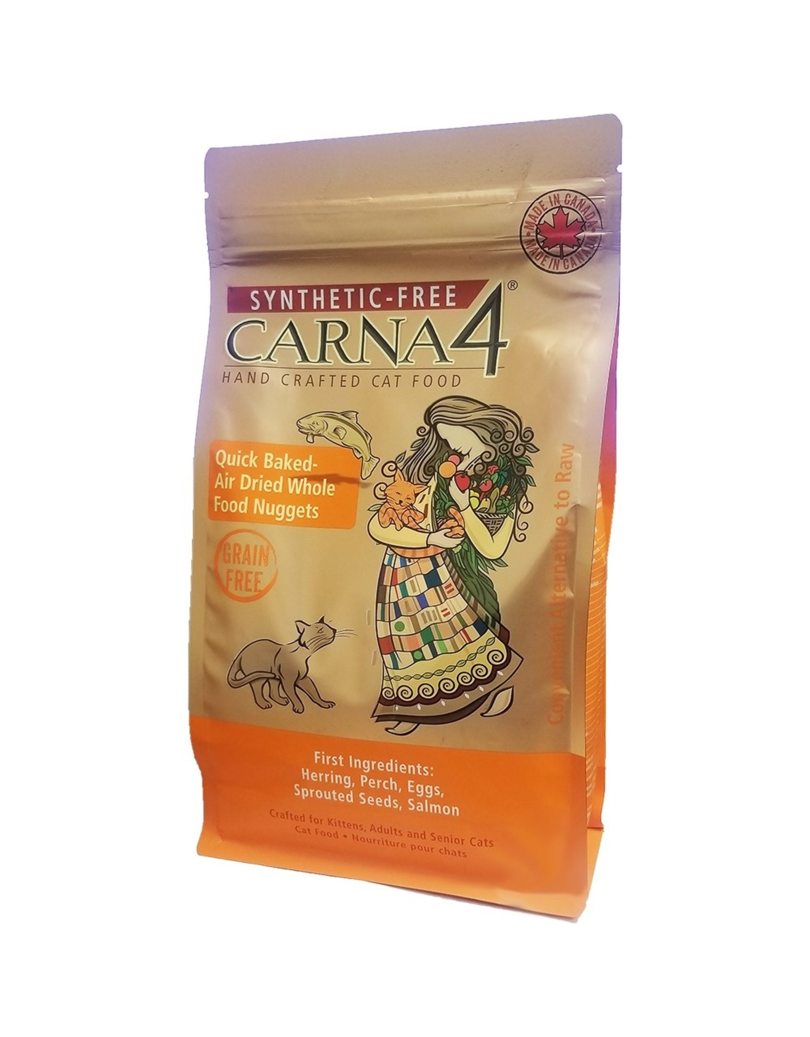 Carna4 Hand Crafted Pet Food CARNA4 CAT QUICK BAKED AIR DRIED WHOLE FOOD NUGGETS FISH FORMULA