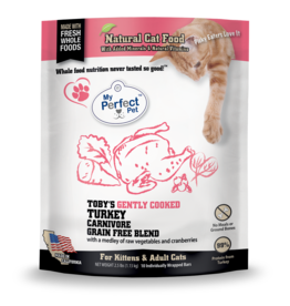 My Perfect Pet MY PERFECT PET CAT TOBY'S GENTLY COOKED TURKEY CARNIVORE BLEND 2.5LB