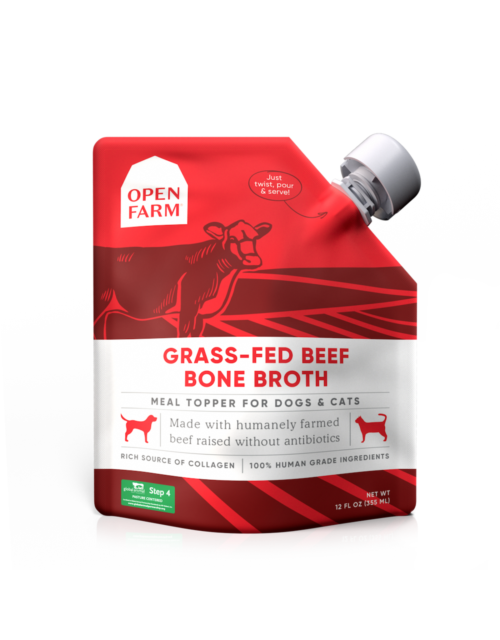 Open Farm OPEN FARM GRASS-FED BEEF BONE BROTH 12OZ